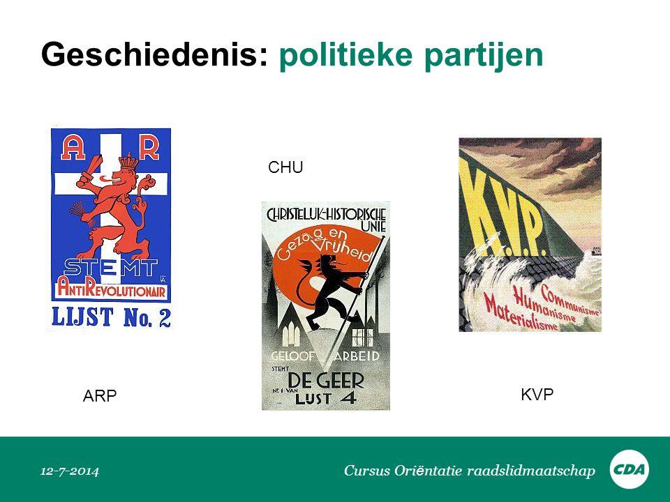 Geschiedenis: politieke partijen