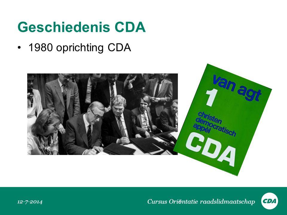 Geschiedenis CDA 1980 oprichting CDA