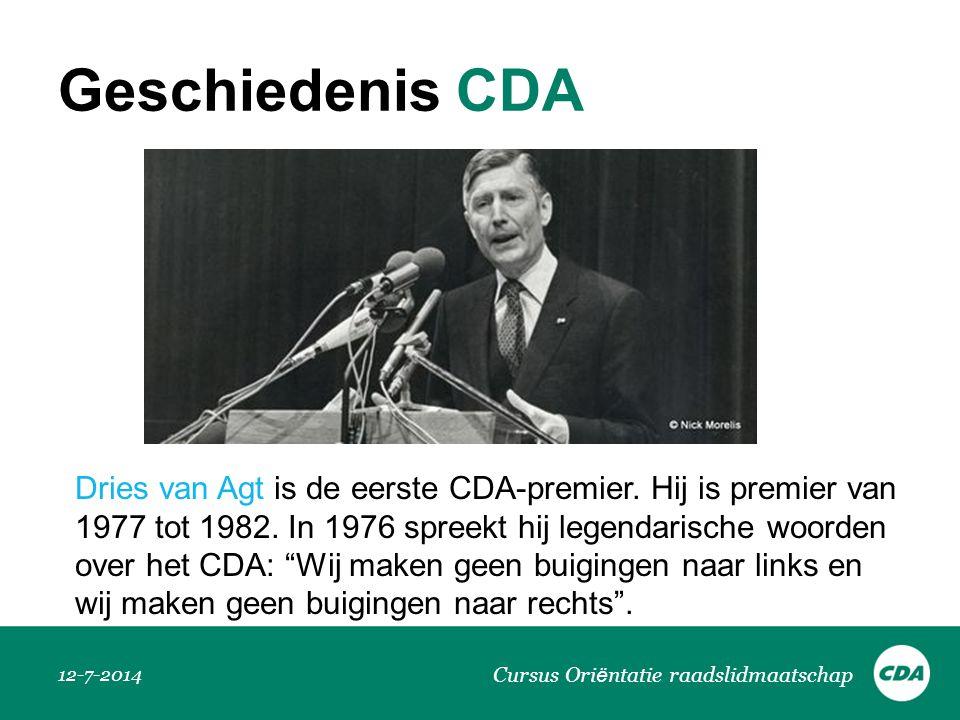 Geschiedenis CDA