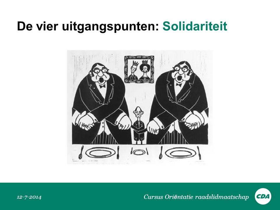 De vier uitgangspunten: Solidariteit