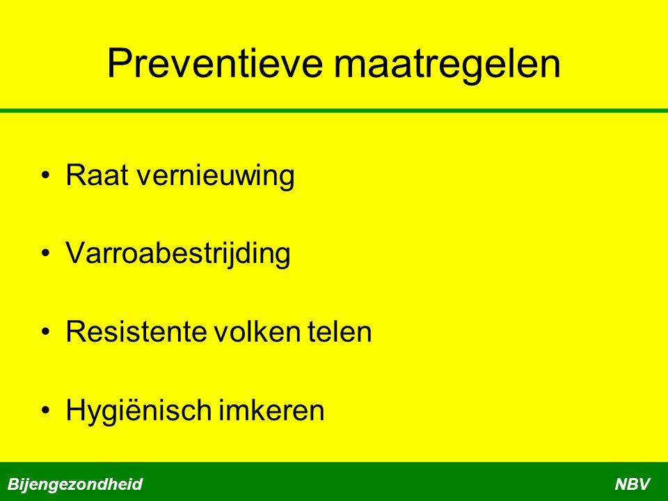Preventieve maatregelen