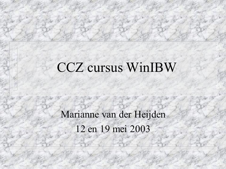 Marianne van der Heijden 12 en 19 mei 2003