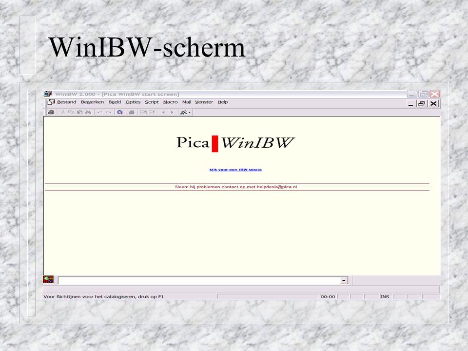 WinIBW-scherm
