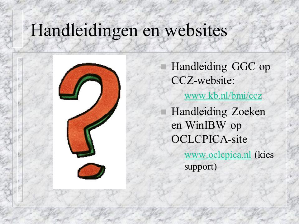 Handleidingen en websites