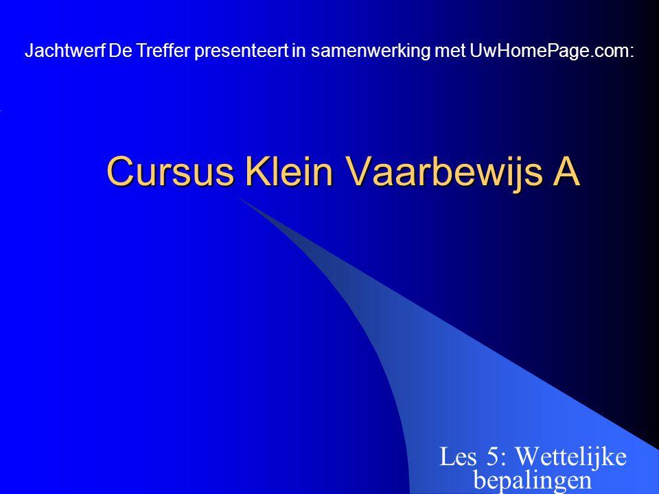 Cursus Klein Vaarbewijs A