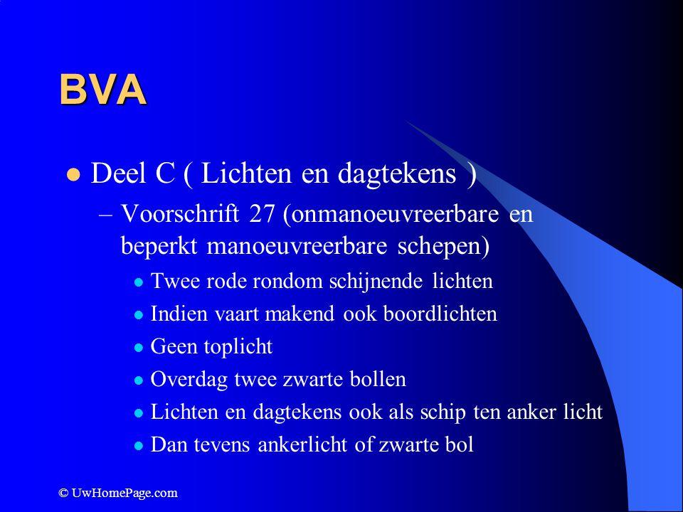 BVA Deel C ( Lichten en dagtekens )