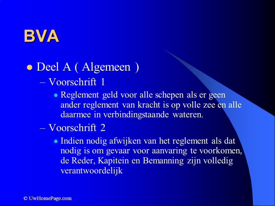 BVA Deel A ( Algemeen ) Voorschrift 1 Voorschrift 2