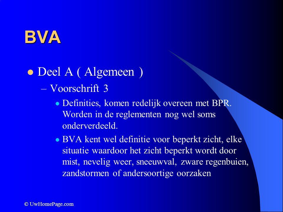 BVA Deel A ( Algemeen ) Voorschrift 3