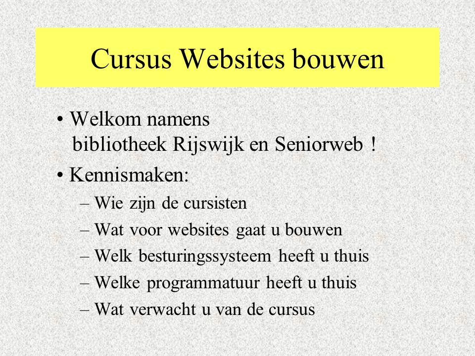 Cursus Websites bouwen