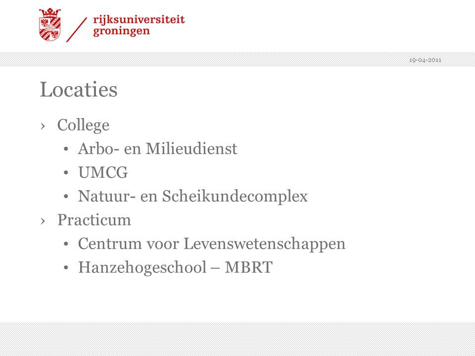 Locaties College Arbo- en Milieudienst UMCG