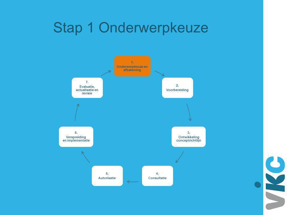 Stap 1 Onderwerpkeuze 1. Onderwerpkeuze en afbakening 2. Voorbereiding