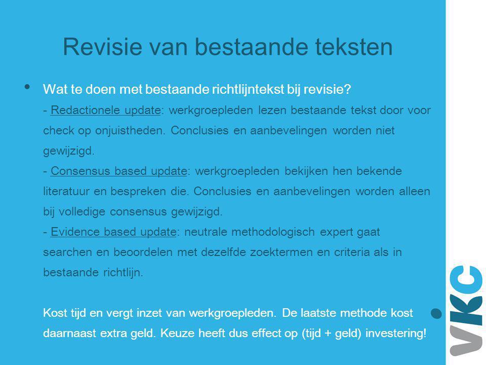 Revisie van bestaande teksten