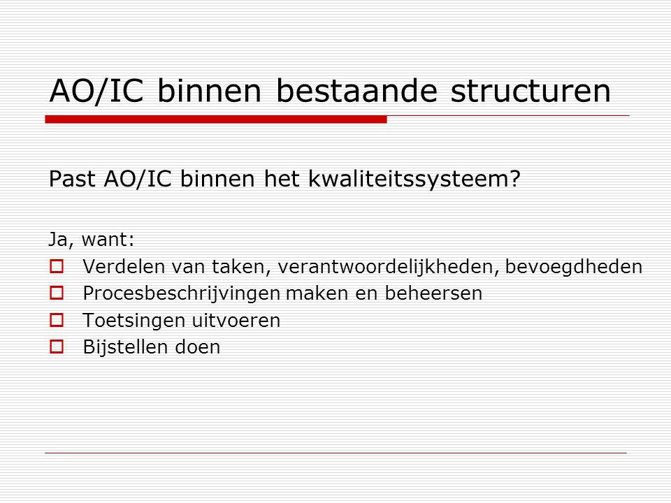 AO/IC binnen bestaande structuren