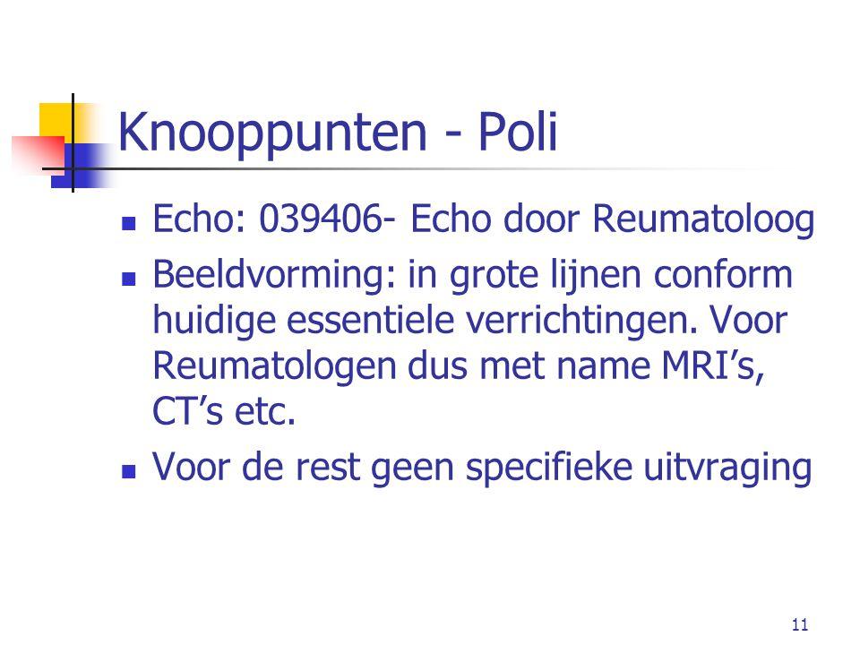 Knooppunten - Poli Echo: 039406- Echo door Reumatoloog