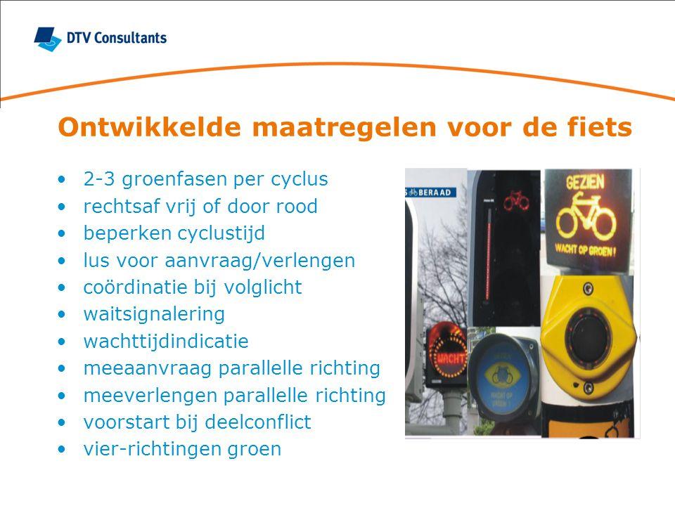 Ontwikkelde maatregelen voor de fiets
