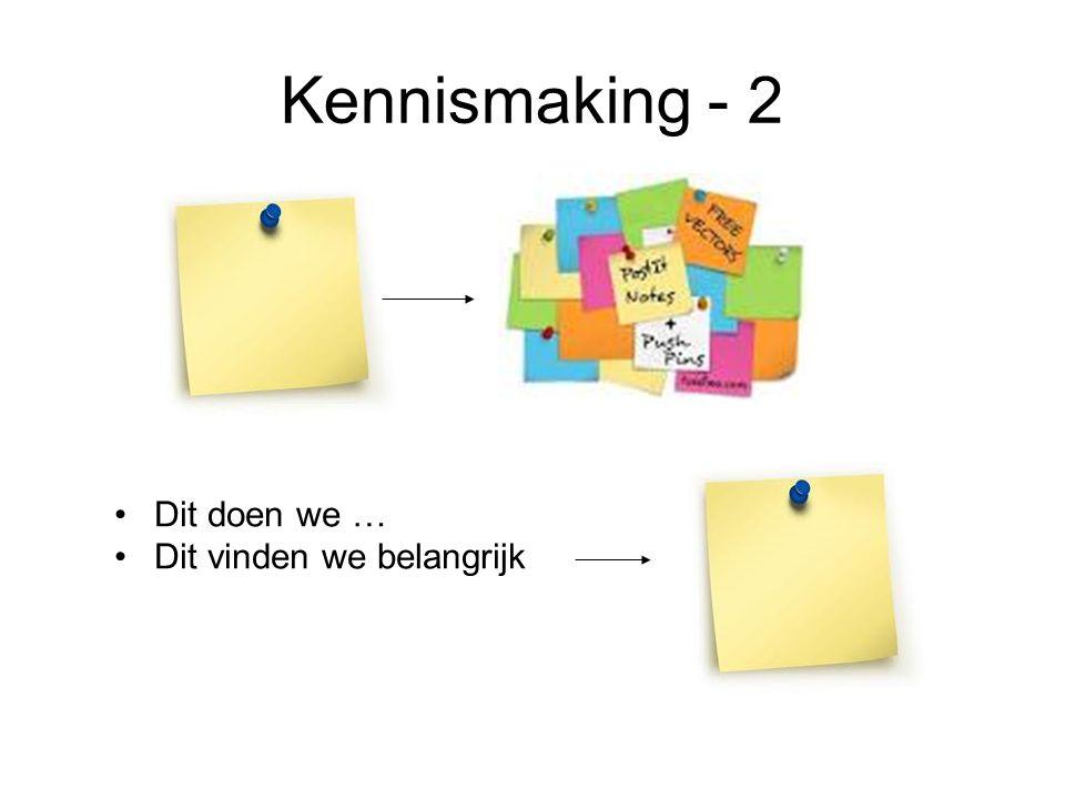 Kennismaking - 2 Dit doen we … Dit vinden we belangrijk Naam