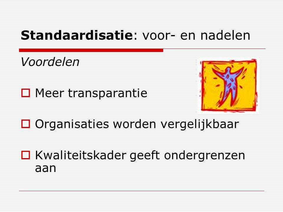 Standaardisatie: voor- en nadelen