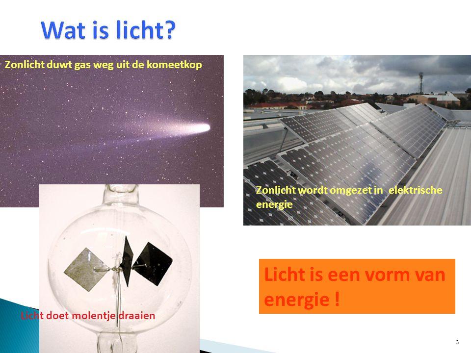 Wat is licht Licht is een vorm van energie !