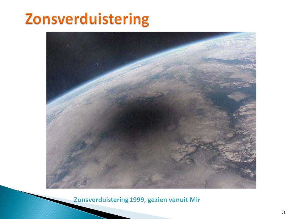 Zonsverduistering Zonsverduistering 1999, gezien vanuit Mir