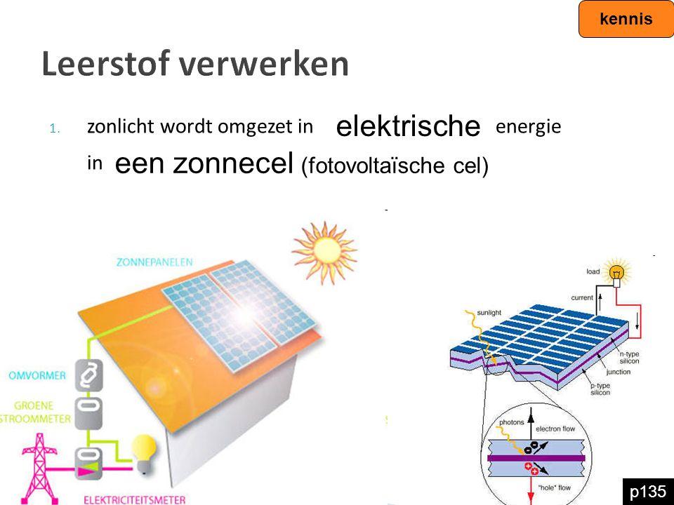 Leerstof verwerken elektrische een zonnecel (fotovoltaïsche cel)
