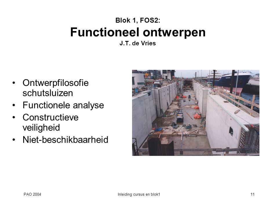 Blok 1, FOS2: Functioneel ontwerpen J.T. de Vries