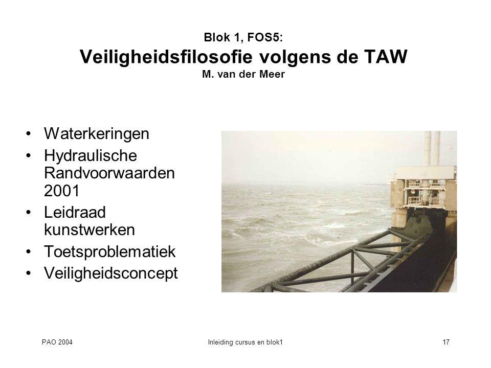 Blok 1, FOS5: Veiligheidsfilosofie volgens de TAW M. van der Meer