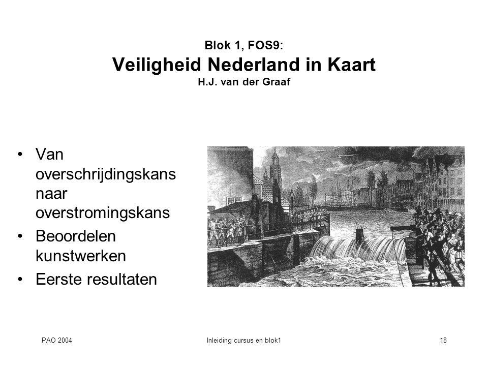 Blok 1, FOS9: Veiligheid Nederland in Kaart H.J. van der Graaf