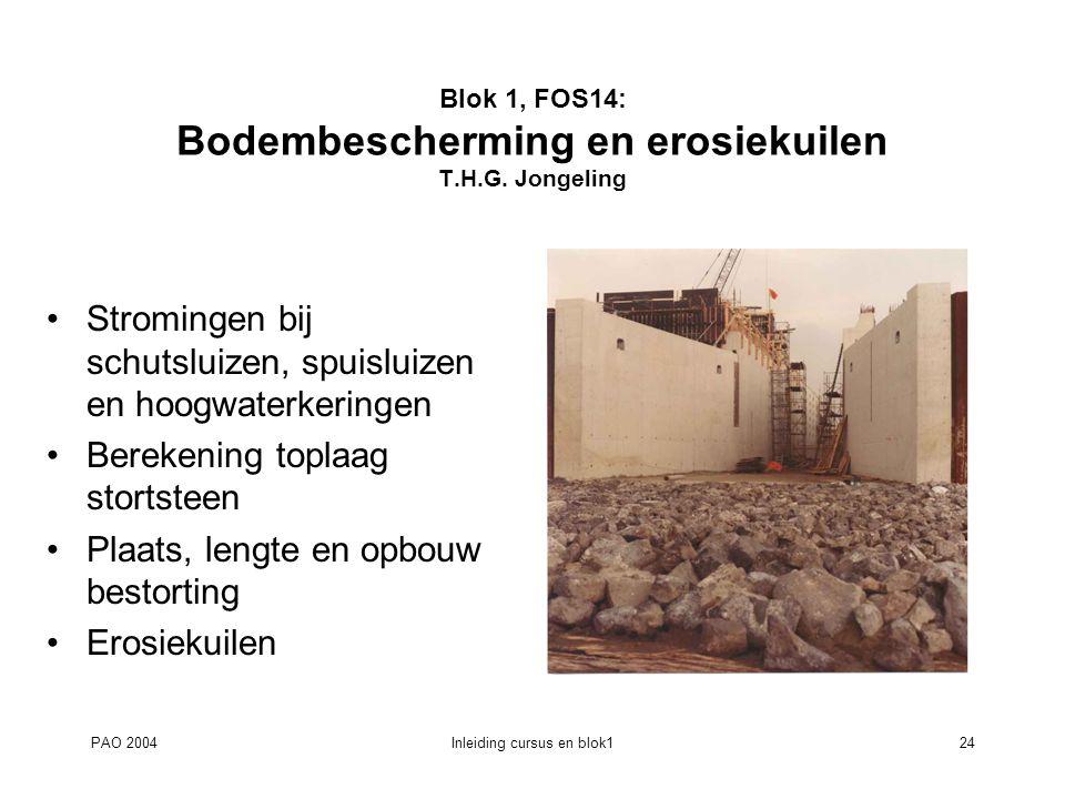 Blok 1, FOS14: Bodembescherming en erosiekuilen T.H.G. Jongeling