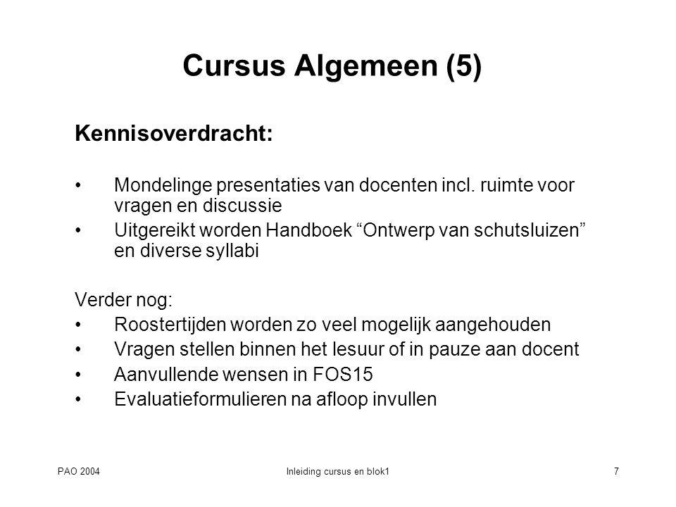 Inleiding cursus en blok1