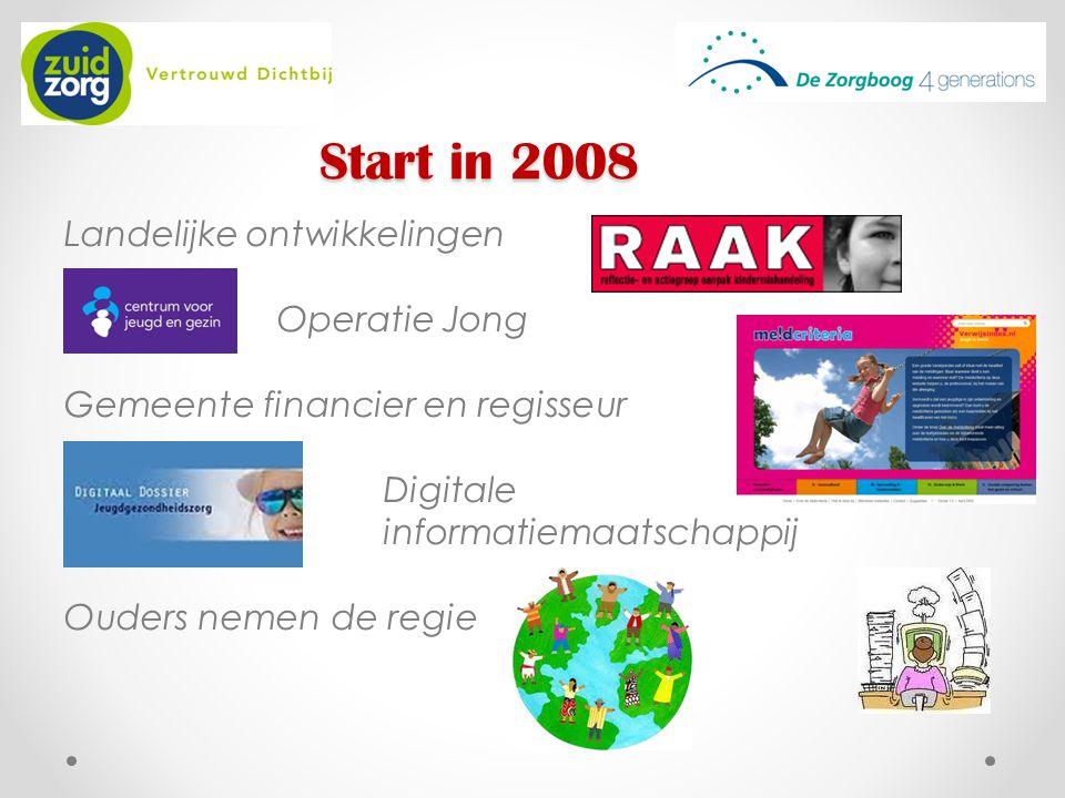 Start in 2008 Landelijke ontwikkelingen Operatie Jong