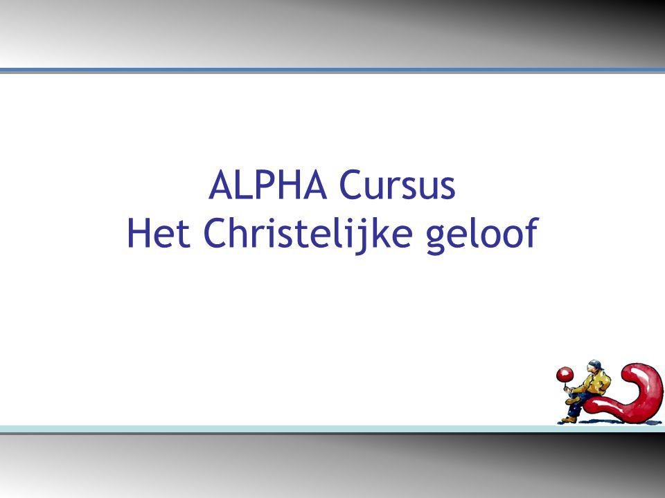 ALPHA Cursus Het Christelijke geloof