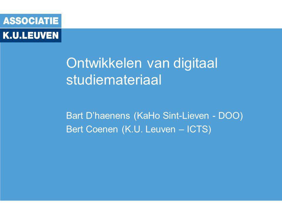 Ontwikkelen van digitaal studiemateriaal