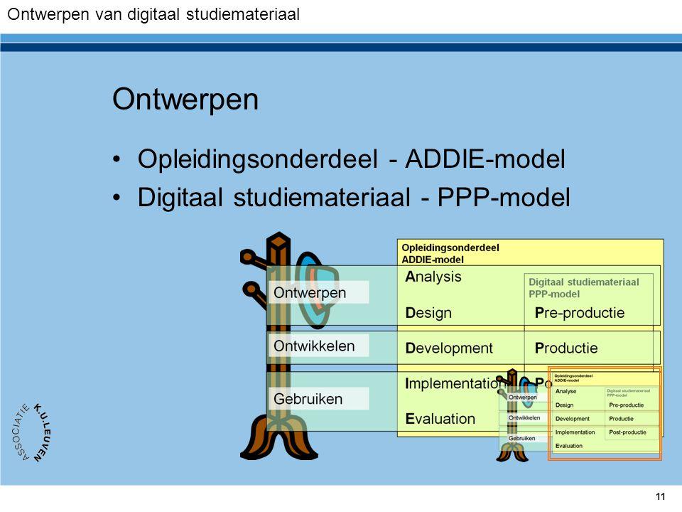 Ontwerpen Opleidingsonderdeel - ADDIE-model