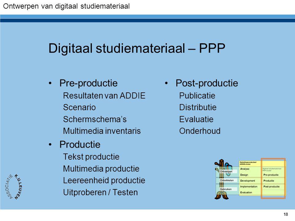 Digitaal studiemateriaal – PPP