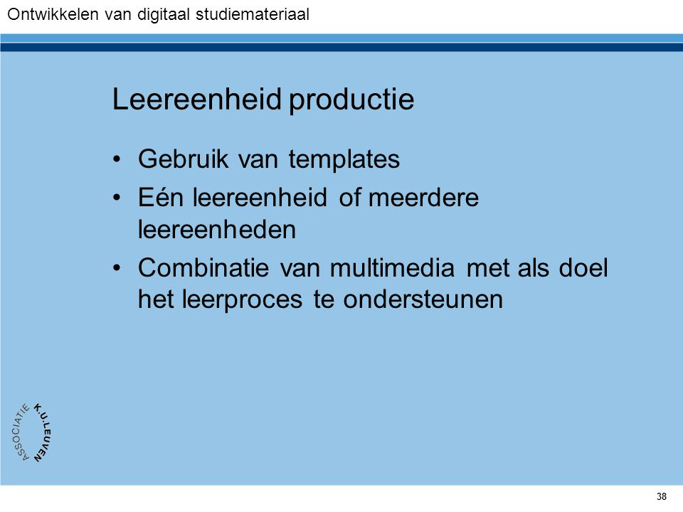 Leereenheid productie