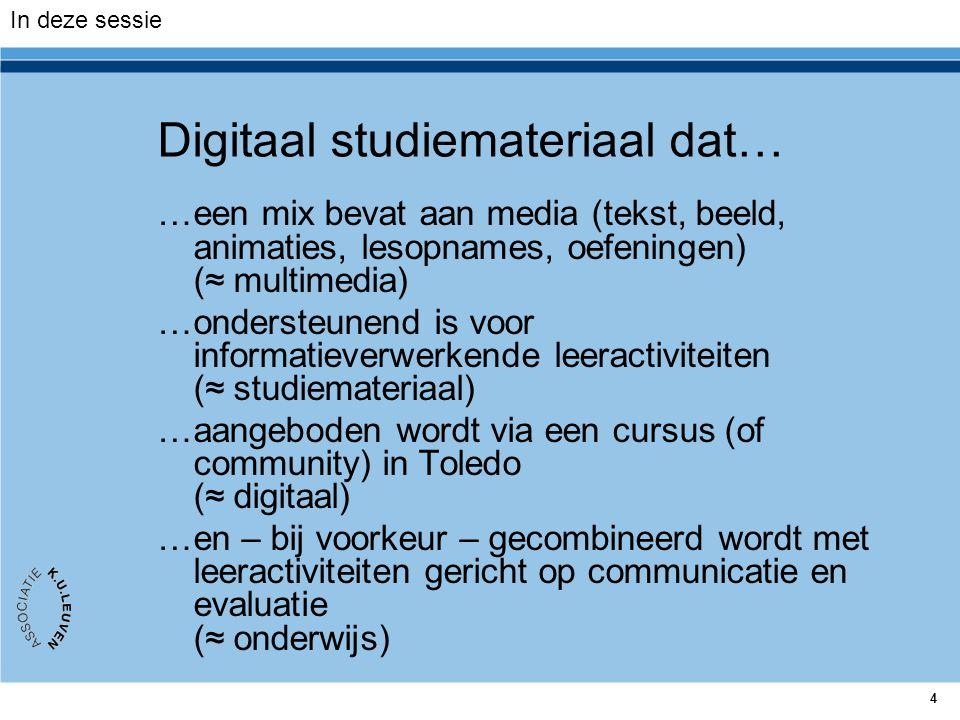 Digitaal studiemateriaal dat…