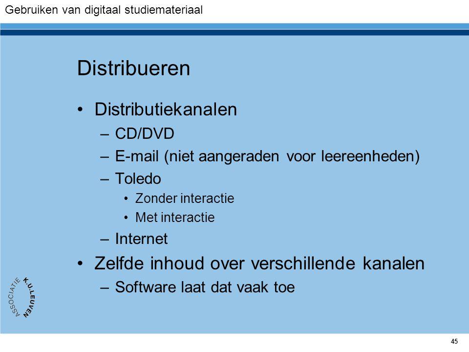 Distribueren Distributiekanalen