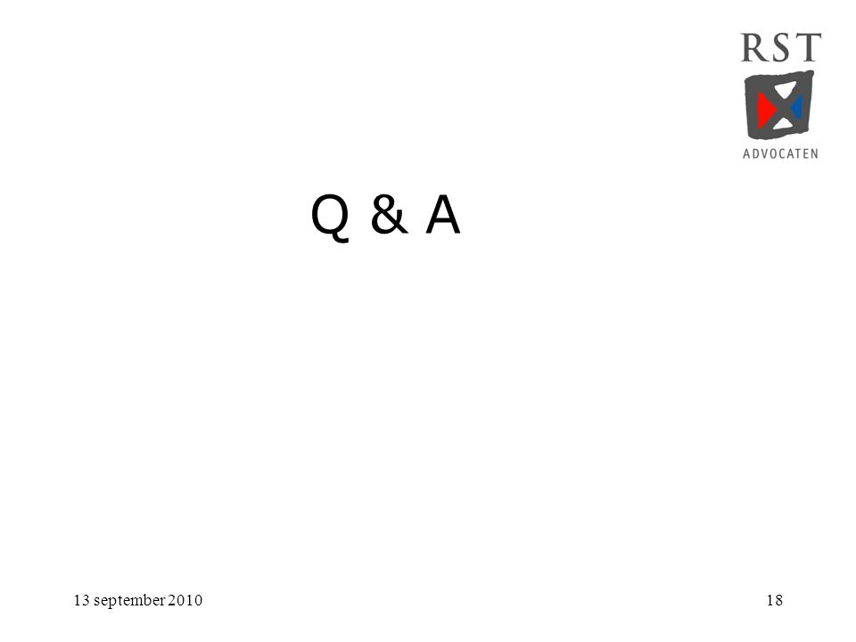 Q & A 13 september 2010