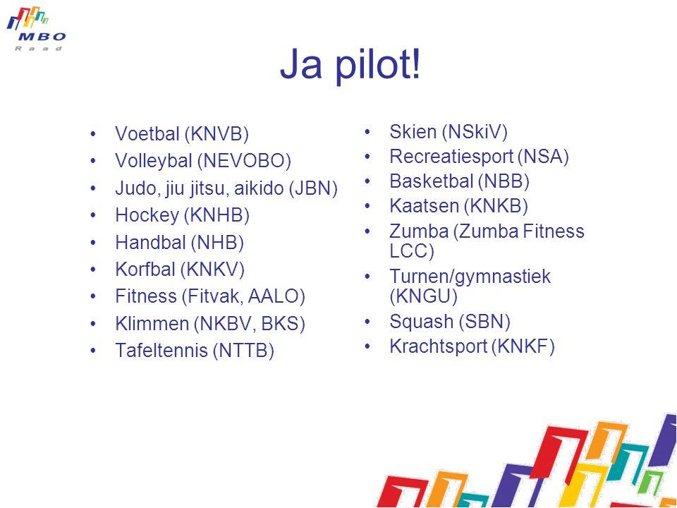 Ja pilot! Voetbal (KNVB) Volleybal (NEVOBO)