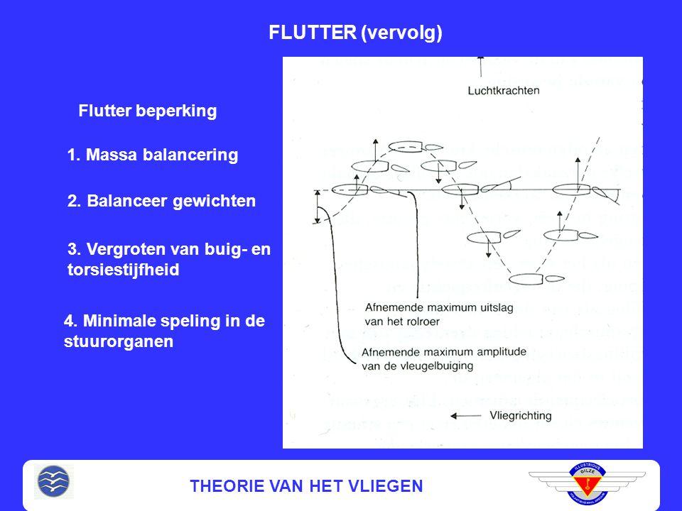 FLUTTER (vervolg) Flutter beperking 1. Massa balancering