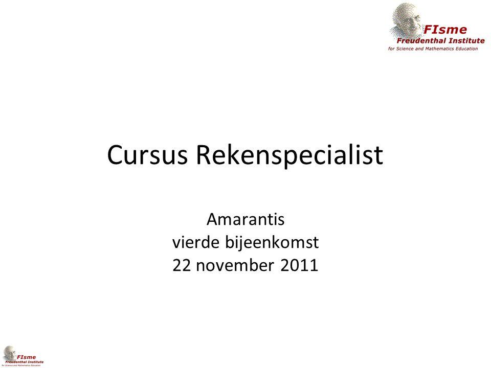 Cursus Rekenspecialist