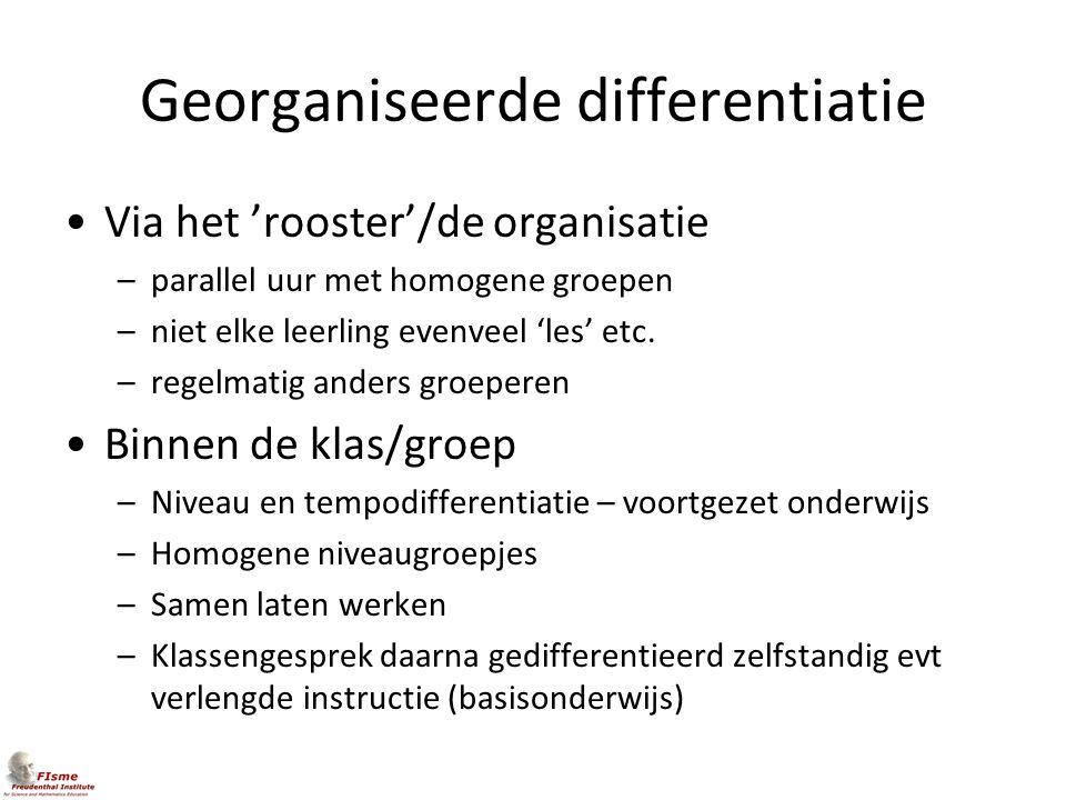Georganiseerde differentiatie