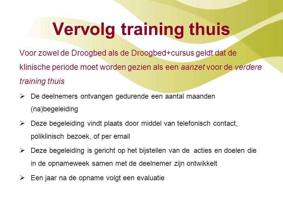 Vervolg training thuis