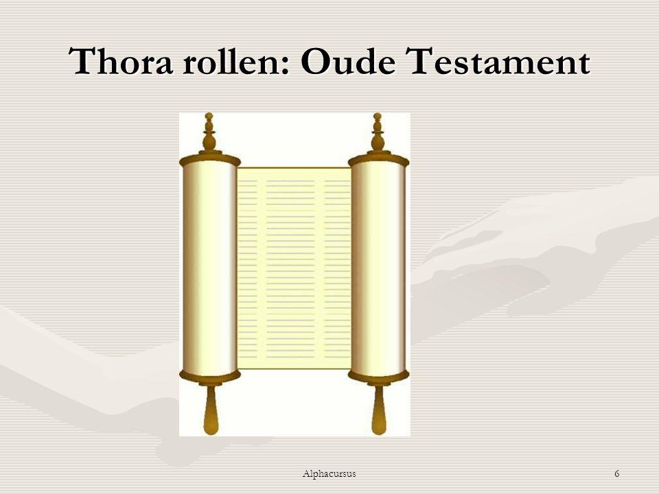 Thora rollen: Oude Testament