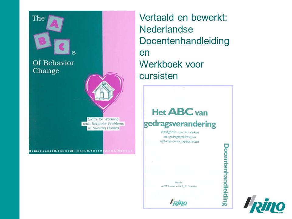 Vertaald en bewerkt: Nederlandse Docentenhandleiding en Werkboek voor cursisten