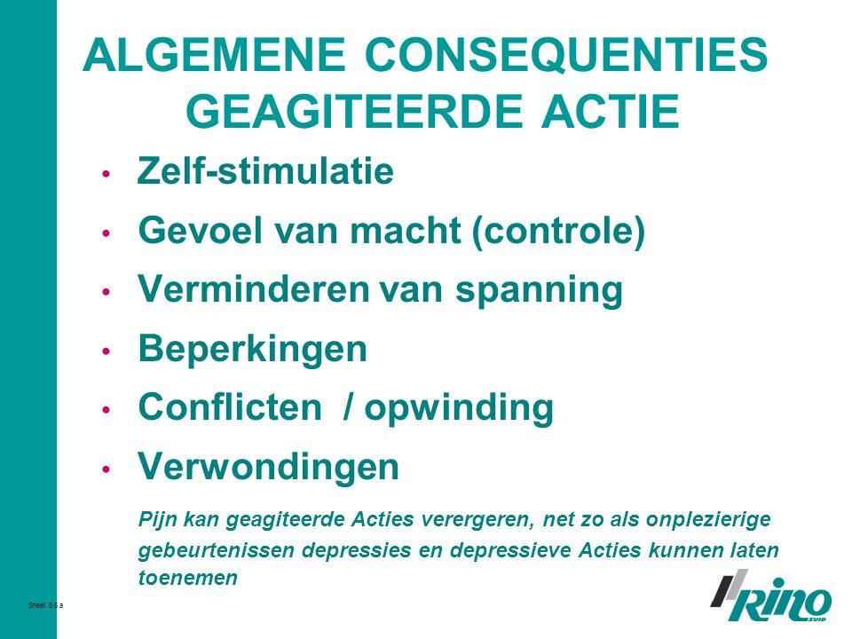 ALGEMENE CONSEQUENTIES GEAGITEERDE ACTIE
