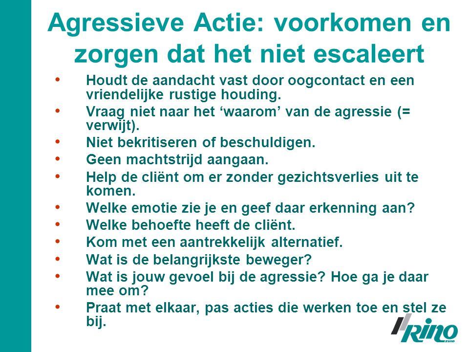 Agressieve Actie: voorkomen en zorgen dat het niet escaleert