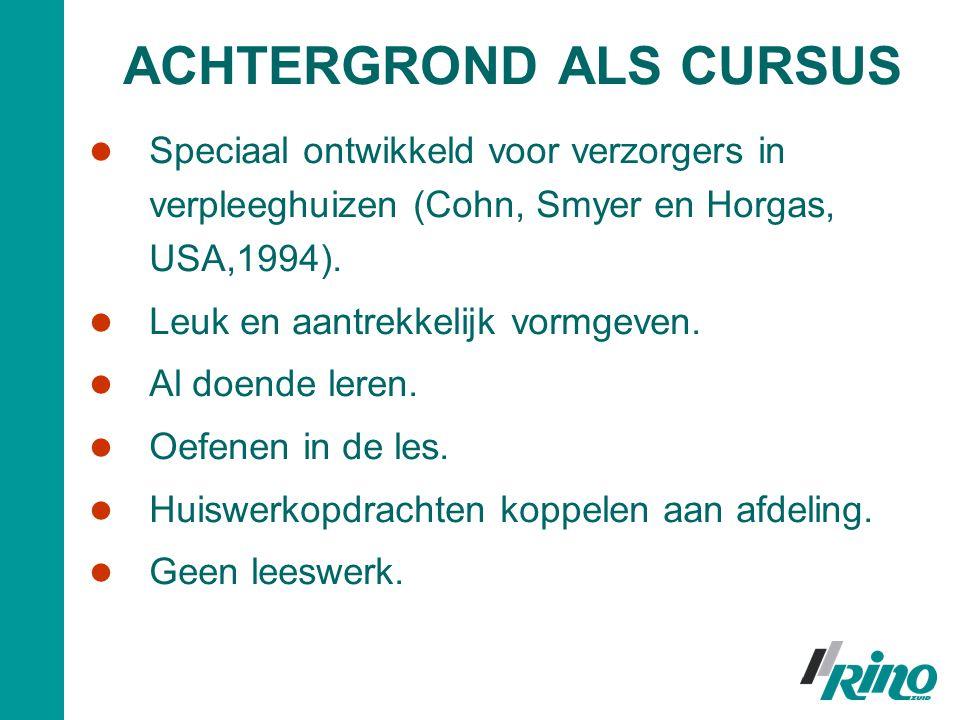 ACHTERGROND ALS CURSUS