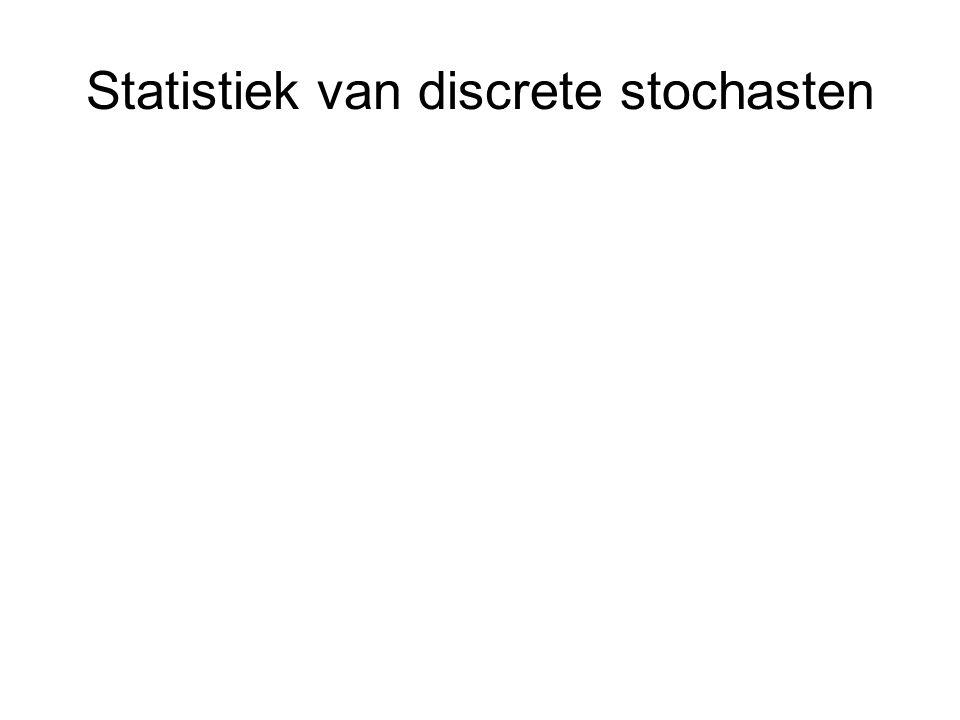 Statistiek van discrete stochasten