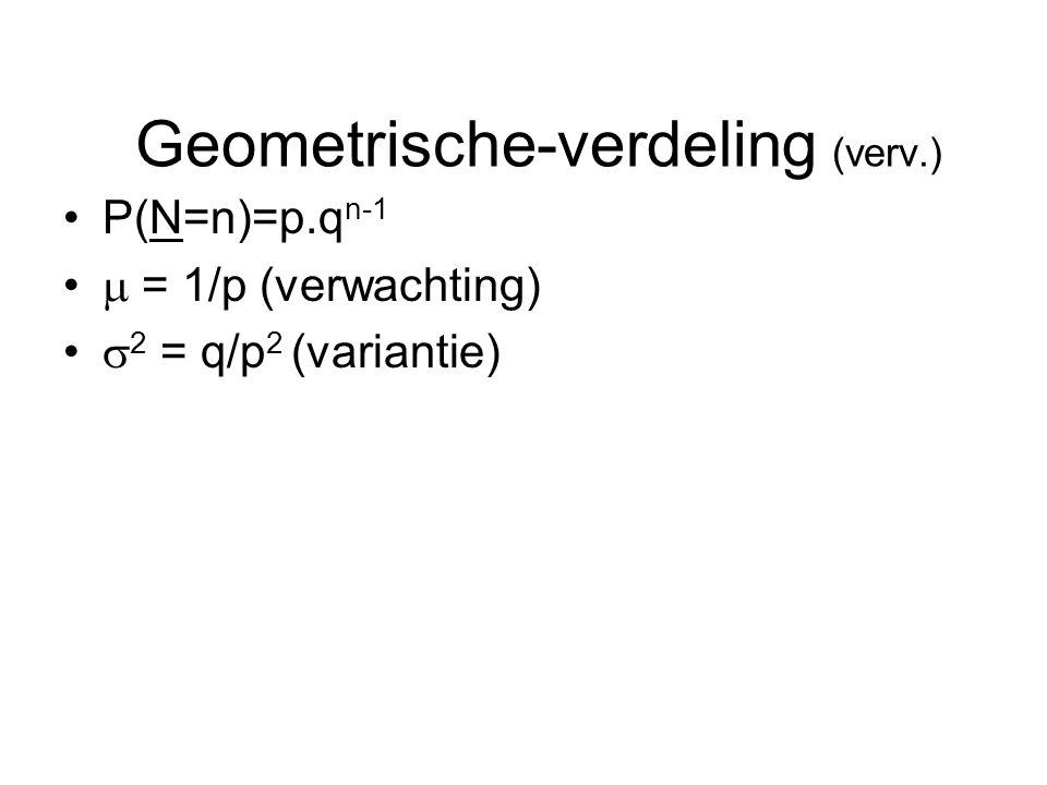 Geometrische-verdeling (verv.)